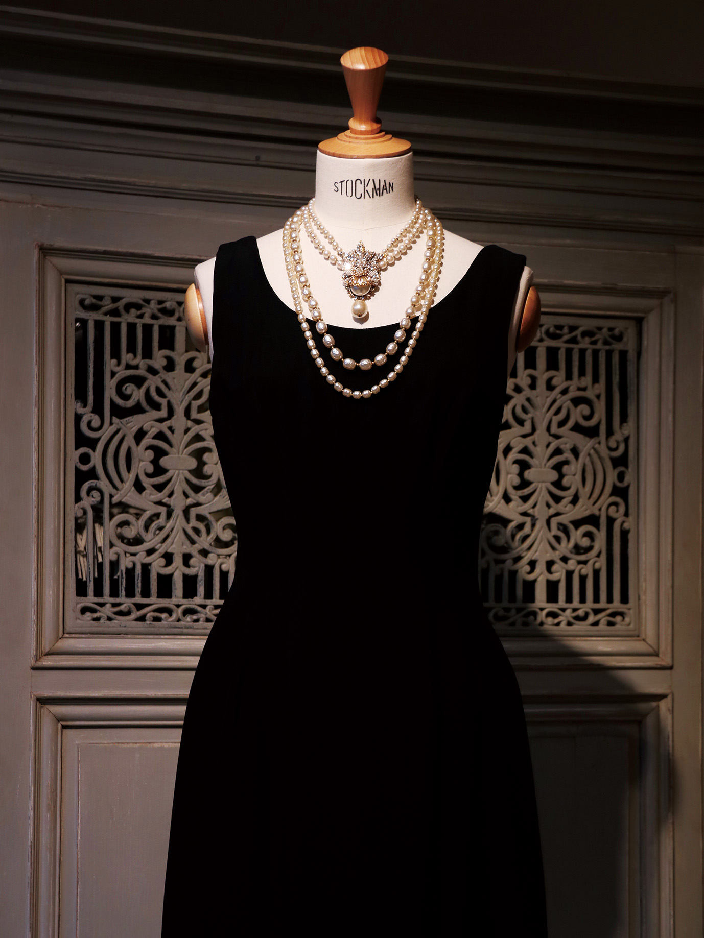 Little Black Dress & Vintage Costume Jewelry