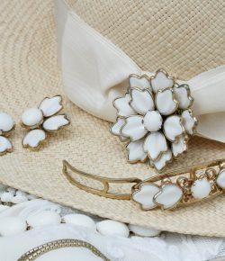 White Trifari Jewelries