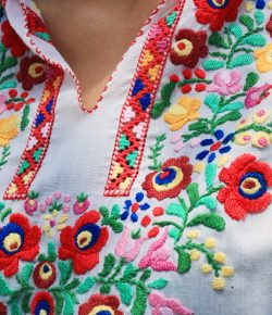 Vintage Hungarian Embroidery Blouse