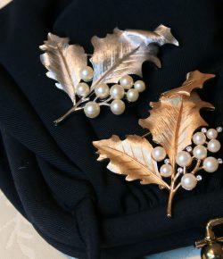 【NEW】Trifari Leaf Motif Brooch