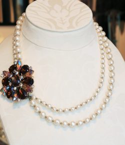 Pearl Necklace with Vintage Parts
